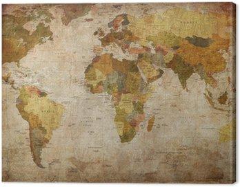 Obraz na Plátně Map world