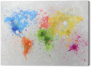 Obraz na Plátně Mapa světa malba
