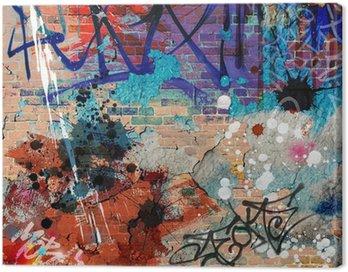 Obraz na Plátně Messy Graffiti zeď pozadí