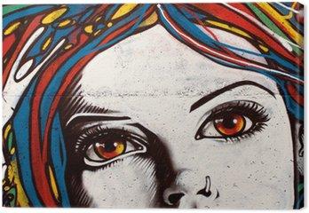 Obraz na Plátně Moderní styl graffiti na cihlové zdi.