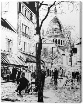 Obraz na Plátně Montmartre v zimě