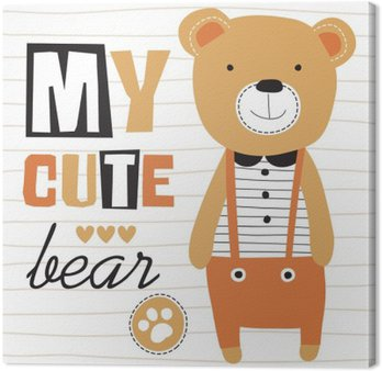 Obraz na Plátně Můj roztomilý medvídek vektorové ilustrace