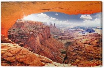 Obraz na Plátně Nebeský pohled na svět