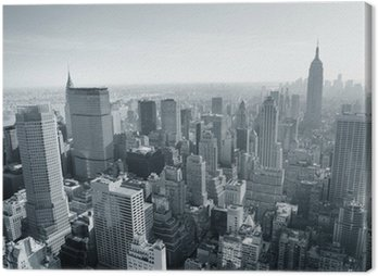 Obraz na Plátně New York City skyline černá a bílá