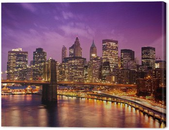 Obraz na Plátně New York Manhattan Pont de Brooklyn