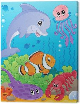Obraz na Plátně Obrázek s podmořskou tématikou 5