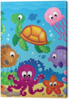 Obraz na Plátně Obrázek s podmořskou tématikou 7
