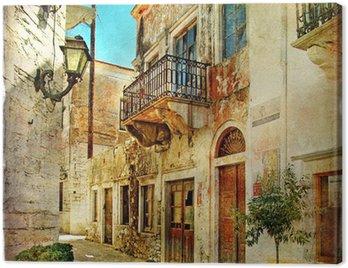Obraz na Plátně Obrazová staré ulice Řecka