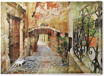 Obraz na Plátně Obrazová staré ulice Řecko, Kréta