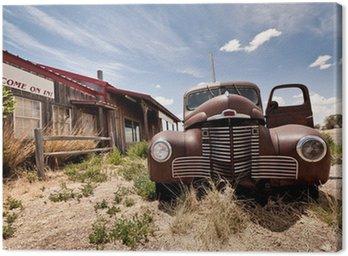 Obraz na Plátně Opuštěné restaraunt na trase 66 silnice v USA