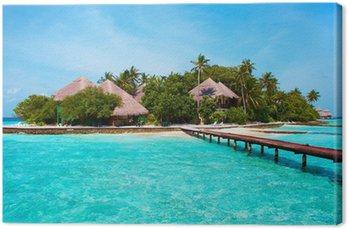 Obraz na Plátně Ostrov v oceánu. Vítejte v ráji!