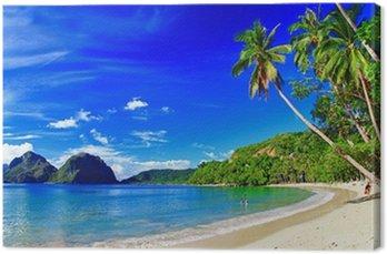 Obraz na Plátně Panoramatický krásná pláž scenérie - El-nido, Palawan