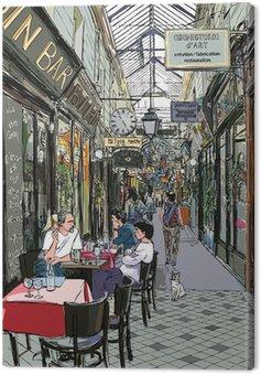 Obraz na Plátně Pasáž v Paříži