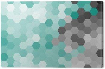 Obraz na Plátně Pastelově modré geometrický vzor hexagon bez obrysu.