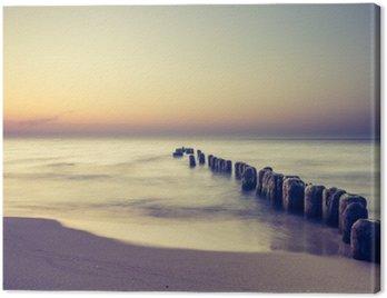 Obraz na Plátně Piękny kolorowy Wschód słońca nad Bałtykiem