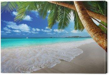 Obraz na Plátně Pláž na ostrově Prtaslin, Seychely