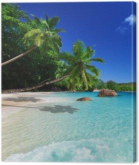 Obraz na Plátně Pláž u Ostrov Praslin, Seychely