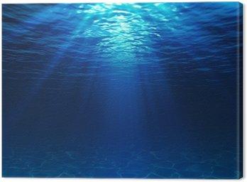 Obraz na Plátně Podvodní pohled na písčité dno