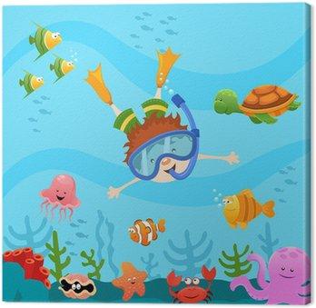 Obraz na Plátně Potápění Kid