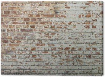 Obraz na Plátně Pozadí starých vintage špinavé cihlové zdi s omítkou loupání