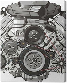 Obraz na Plátně Přední motor auta