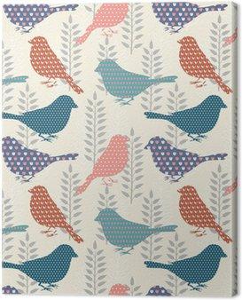 Obraz na Plátně Ptáci bezešvé vzor