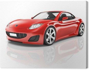 Obraz na Plátně Red 3D sportovní auto
