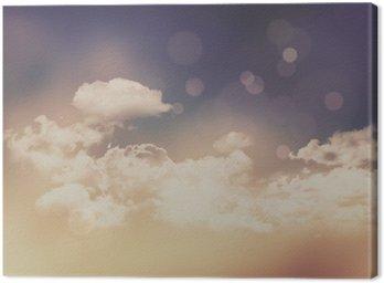 Obraz na Plátně Retro mraky a obloha pozadí
