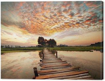 Obraz na Plátně River na západ slunce