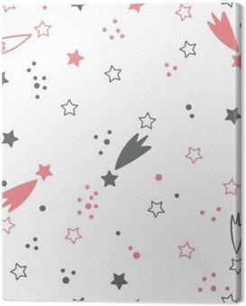 Obraz na Plátně Roztomilý bezproblémové vzorek s hvězdami. Místo na pozadí