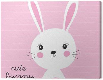 Obraz na Plátně Roztomilý králíček vektorové ilustrace