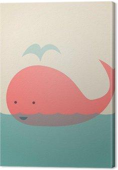 Obraz na Plátně Roztomilý Velryba