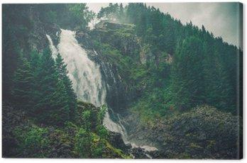 Obraz na Plátně Scenic Norwegian Waterfall