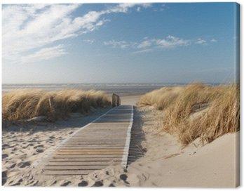 Obraz na Plátně Severní moře pláž v Langeoog