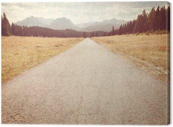 Obraz na Plátně Silnice na horách - Vintage image