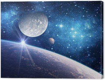 Obraz na Plátně Souvislosti s planetou, měsíc a hvězdy