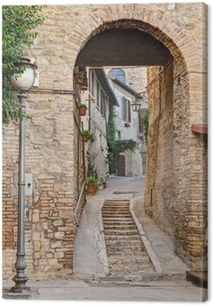 Obraz na Plátně Starobylé uličky v Bevagna, Itálie
