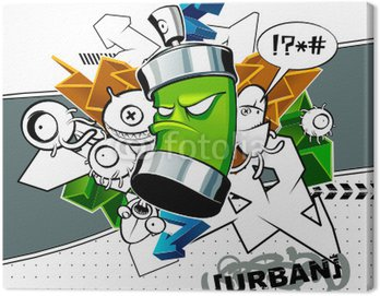 Obraz na Plátně Strange graffiti image s CAN