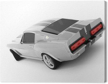 Obraz na Plátně Stříbrný Klasická Sports Car