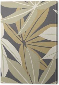 Obraz na Plátně Stylový bezproblémové vzorek s tropickým listy
