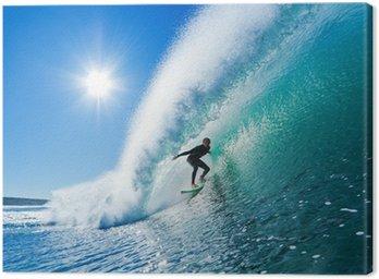 Obraz na Plátně Surfař na Blue Ocean Wave