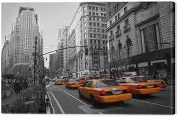 Obraz na Plátně Taxies na Manhattanu