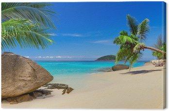 Obraz na Plátně Tropická pláž scenérie v Thajsku