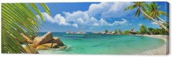 Obraz na Plátně Tropický ráj - Seychelské ostrovy