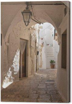 Obraz na Plátně Ulička. Cisternino. Puglia. Itálie.