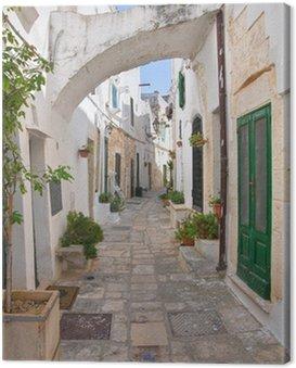 Obraz na Plátně Ulička. Ostuni. Puglia. Itálie.