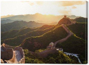 Obraz na Plátně Velká čínská zeď pod slunci při západu slunce