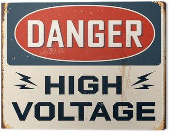 Obraz na Plátně Vintage Metal Sign - Vektor - Grunge efekty mohou být odstraněny