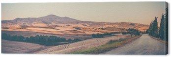Obraz na Plátně Vintage toskánská krajina