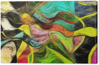 Obraz na Plátně Víření tvarů, barev a Lines